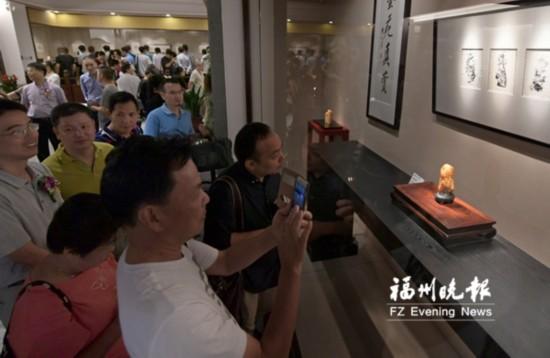 福州市民间艺术馆开馆 林文举薄意雕刻艺术展展出