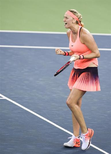 (体育)(3)网球――武汉公开赛:科维托娃晋级