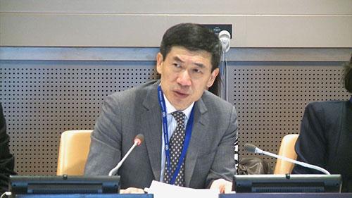 联合国助理秘书长徐浩良做开幕致辞