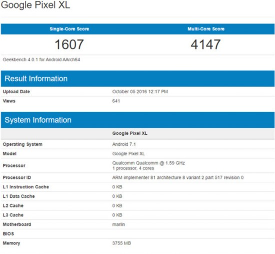 谷歌Pixel XL跑分对比苹果iPhone7 Plus