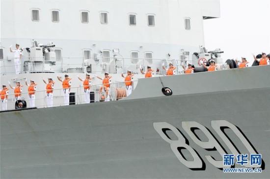 中国海军护航编队访问马来西亚(图)