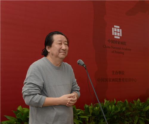 中国国家画院院长、工作室导师杨晓阳致词