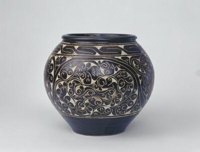宋·介休窑黑釉剔花罐