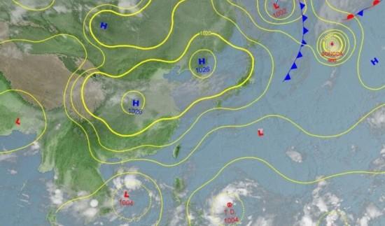 目前位于菲律宾东方海面的热带性低气压,可能形成今年编号第21号轻度台风莎莉佳