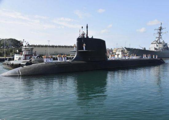 """日本潛艇青龍下水 是""""蒼龍級""""潛艇的第9艘艦艇"""