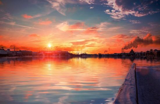 摄影师拍俄圣彼得堡夕阳照 宛若童话(组图)
