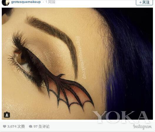 复古猫眼妆看腻了 画个蝙蝠翼眼妆吧