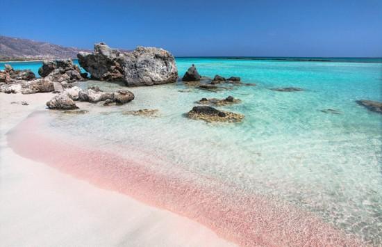 摄影师拍巴哈马神奇粉红梦幻沙滩