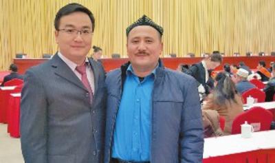 """23日,在新疆乌鲁木齐市""""民族团结一家亲""""活动动员大会上,天山区图片"""