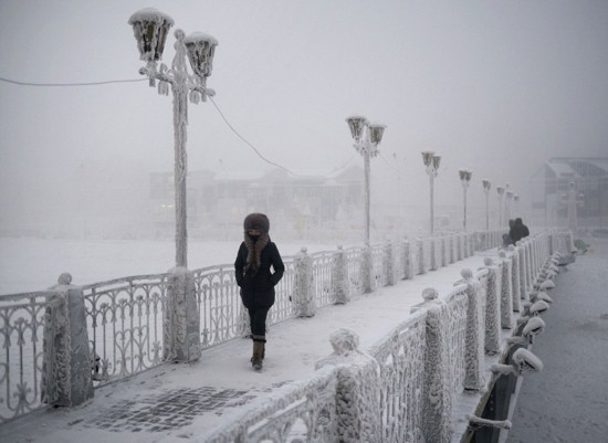 揭秘世界极寒之地:俄罗斯小镇奥伊米亚康