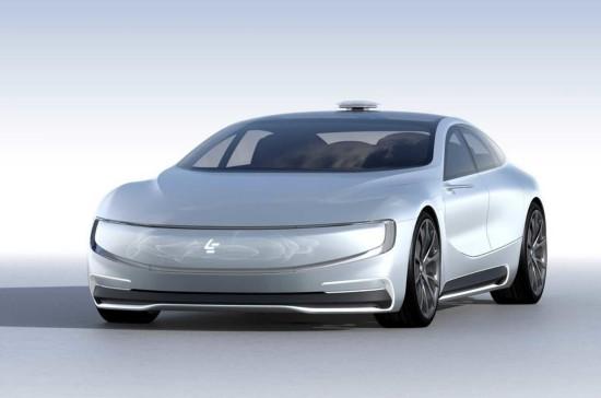 乐视无人驾驶概念车亮相 炫酷爆了