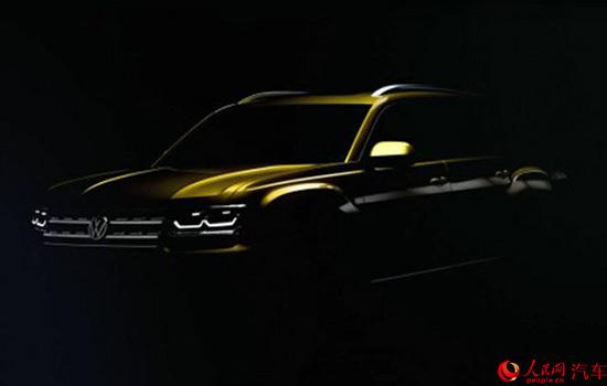 大众全新中型SUV预告图 或11月发布