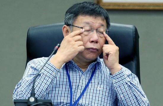 台北市长柯文哲。(图片来源:台湾《联合报》)