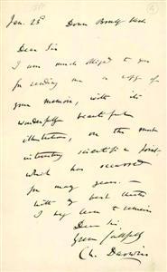 达尔文亲笔函