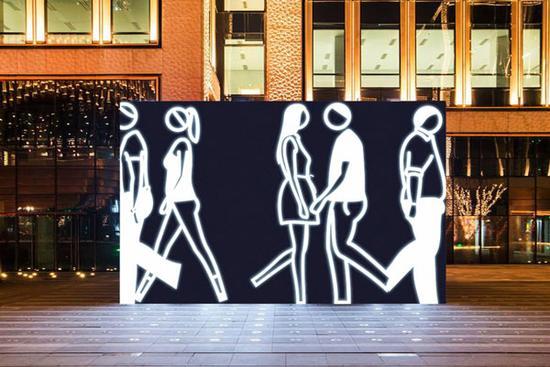 英国艺术家朱利安奥培在中国首个