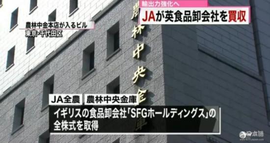 日本全国农业协会联合会 农林中央金库 收购