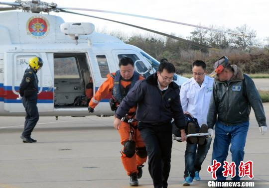 中国多部门接力救助一俄罗斯籍重症船员(图)