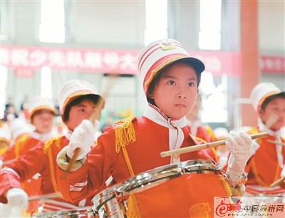 徐州丰县举办少先队鼓号大赛 1300余人参加活动