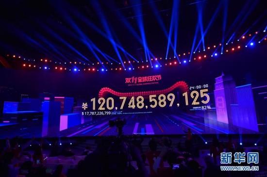 """2016天猫""""双十一""""交易额超1207亿元(组图)"""