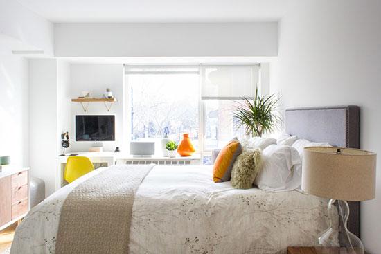 当色彩遇上极简主义 两居室里实现完美平衡