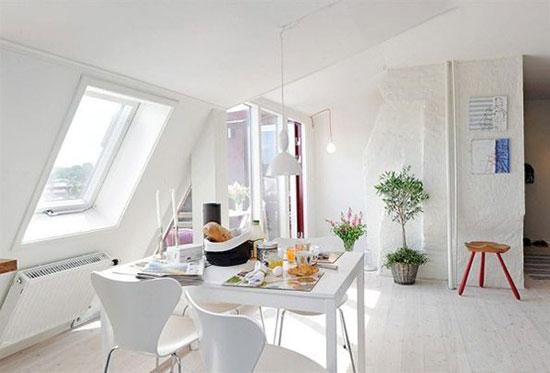 色彩明丽的阁楼公寓 一览城市全景
