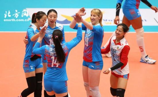 陈丽怡豪取22分超两外援 天津女排3比0完胜福建--天津频道--人民网