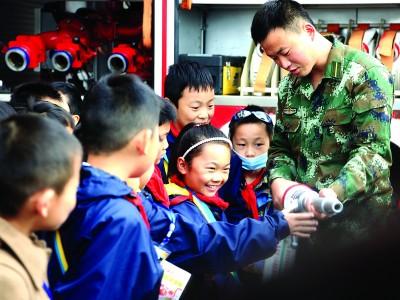 连云港开发区200名小学生学习消防知识
