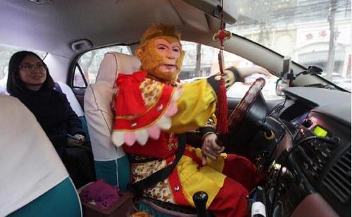 """街头惊现孙悟空开出租 """"猴哥"""":从小就有美猴王情节"""