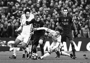 巴塞罗那主场1比1战平皇马 遭遇联赛三连平