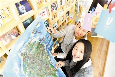 手绘地图展现天津美景