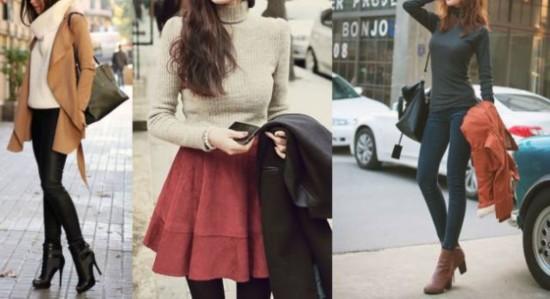 高领毛衣的三大搭配规则,保暖又洋气!
