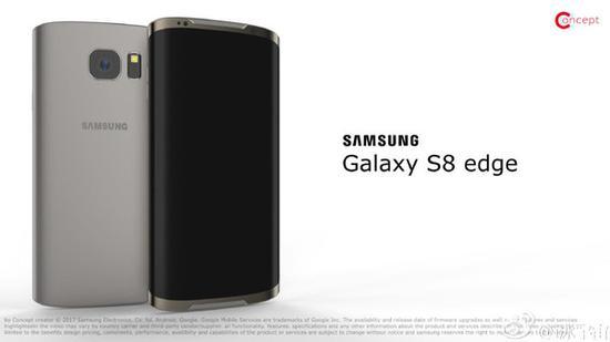 三星S8 edge概念图曝光