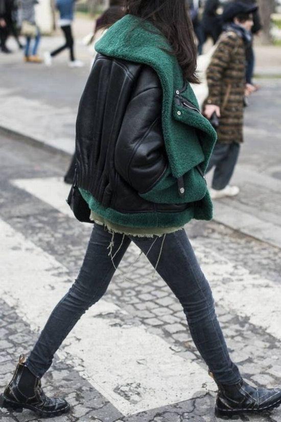 冬季皮衣并非黑色不可 这些都是流行款
