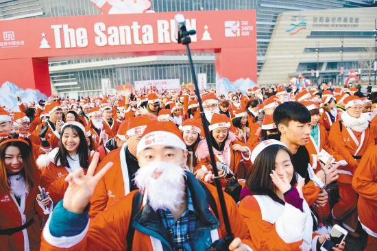 圣诞老人跑