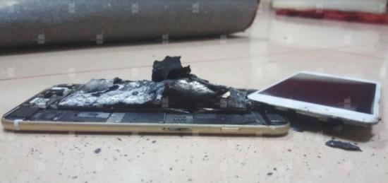 国外用户苹果iPhone6s爆炸 然后起火
