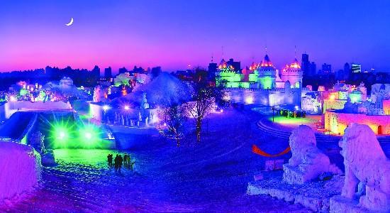 牡丹江冰雪画卷美旅游热寒冬
