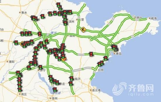 山东高速最新地图全图
