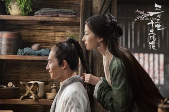 《三生三世十里桃花》刘亦菲身披轻纱 美若天仙