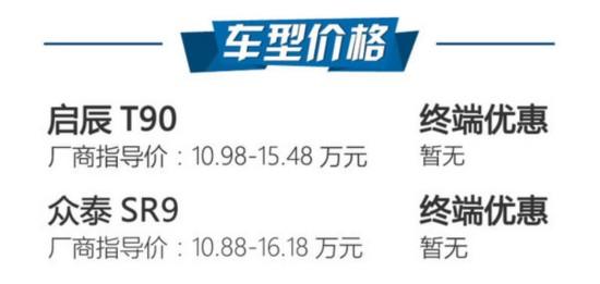 选购最潮SUV 启辰T90/众泰SR9哪款好?-图2
