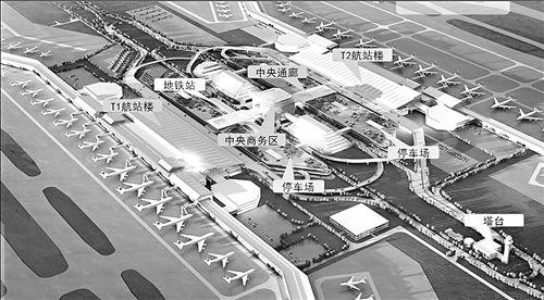 图中T1航站楼为,现在正在使用的航站楼