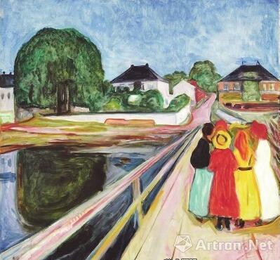 2016年11月,挪威艺术大师蒙克创作于1902年的作品《桥上的女孩》于纽约苏富比拍卖会上以5400万美元成交(约合3.8亿元人民币)。不同于绝大多数蒙克作品中笼罩的压抑和悲观情绪,这幅作品的画面竟然有些难以置信的清新恬淡。原来,蒙克内心深处也曾藏着不灭的希望之火。