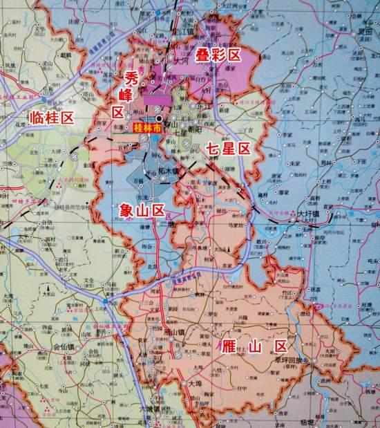 桂林临桂区地图-桂林市概览