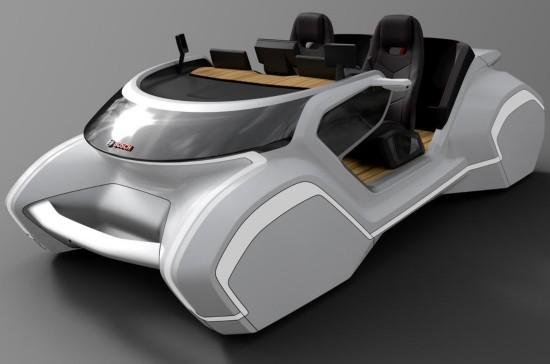 外观酷爆了!博世概念车亮相2017 CES