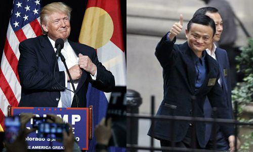 Donald Trump and Jack Ma