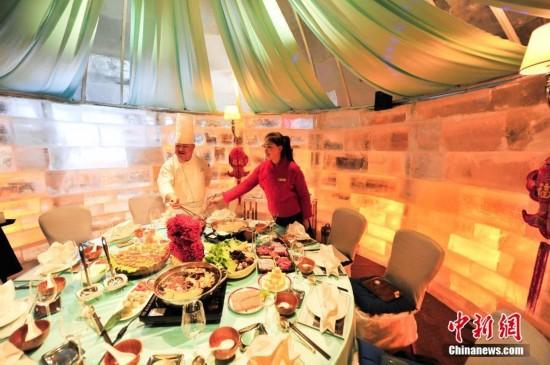 沈阳冰屋火锅餐厅受市民欢迎