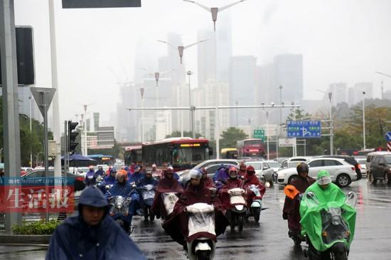 南宁11日发布暴雨黄色预警 1月份下暴雨少见(图)
