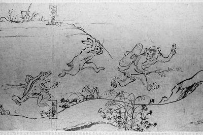 日本漫画鼻祖:《鸟兽人物戏画》