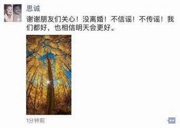 陈思诚否认挽回为离婚佟丽娅陈思诚把头像换的性感菩萨观音图片