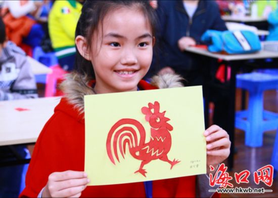 剪窗花,红包diy 海口百个家庭探索传统文化迎新春