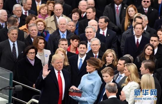 (国际)(1)特朗普宣誓就任美国总统